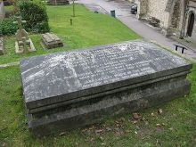 Queensbury, The grave of writer Mary Shelley and her parents, West Yorkshire © LordHarris